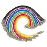 Bulk Waxed Necklace Cord-180PCS 18 Colors 1.5mm Necklace Cord with Clasp Bulk