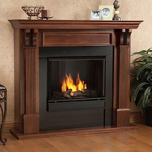 Ashley Gel Fireplace in Mahogany (Mahogany) - Mahogany Fireplace Mantel