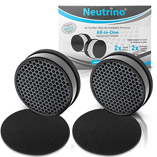 (HEPA Air Filter Replacement for LEVOIT Purifier LV-H132 - 2 Pack Compatible with LV-H132-RF Filters - TRUE HEPA Filter with Activated Carbon to Remove Dust, Odor, Pollen,Smoke)