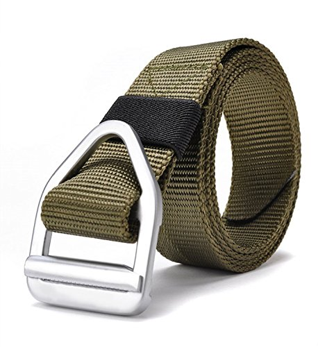 FAIRWIN Men's Web Tactical Belt, Wilderness Tactical Equipment CQB Instructors Riggers Belt for Outdoor Military Army Training or Casual/ Duty Wear