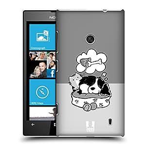 Head Case Designs Atrapasueños Bnw Oscar Y Howard Caso Duro Trasero para Nokia Lumia 520 / 525