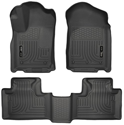 Fit Car Floor Mat Rug - Husky Liners Front & 2nd Seat Floor Liners Fits 11-15 Durango/ Grand Cherokee