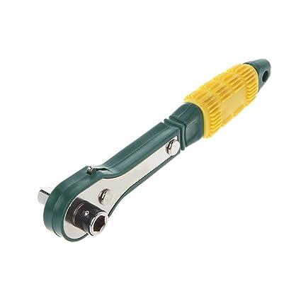 longsw Mini llave de carraca de rápido 1/4 Destornillador Llave De ...