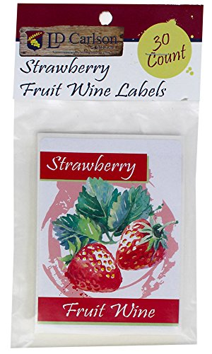 Strawberry Fruit Wine Labels - Fruit Labels Wine