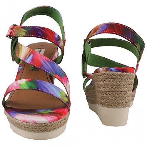 Tamaris2870426990 - zapatos de tacón Mujer Multicolor - Mehrfarbig (990 MULTICOLOR)