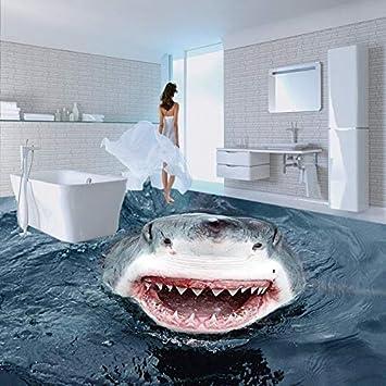 BZDHWWH Alta Definición Terror Shark 3D Piso Mapa Wallpaper Baño Oficina Estudio Antideslizante Piso Wallpaper Mural,60Cm X 90Cm: Amazon.es: Bricolaje y ...