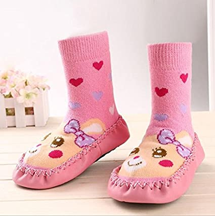 Bebedou - Zapatillas calcetines para bebés, calcetines con suela de cuero, diseñ