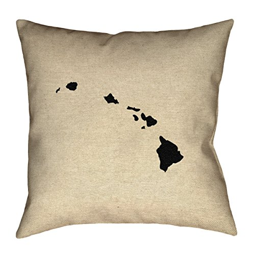 ArtVerse Katelyn Smith Hawaii 20'' x 20'' Pillow-Faux Suede Double Sided Print with Concealed Zipper & Insert by ArtVerse