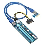 QNINE-PCIe-GPU-Riser-Adapter-Card-8-Pack-PCI-Express-1X-to-16X-Extender-Mining-Graphics-Card-USB-30-Extension-6pin-MOLEX-to-SATA-Power-Cable-for-Ethereum-Bitcoin-Litecoin-Ubit-Device