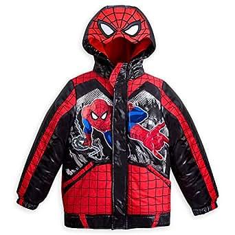 Amazon.com: Disney Store Spiderman Little Boy Hooded Puffy ...