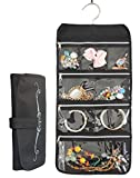 Misslo 8 Zippered Pockets Travel Jewelry Roll up