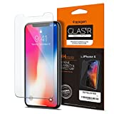 Cristal Templado iPhone X iPhone 10 Screen Protector, Spigen iPhone X Screen Protector Glass Slim [GLAS.tR SLIM] (0.4mm) Rounded Edges Glass Screen Protector for iPhone X - GLAS.tR SLIM