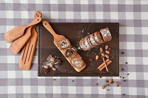 Handmade Utensil Set of 4 Wooden Kitchen Utensils Spatula Cherry Wood Spurtle Kitchen Supplies by MyFancyCraft (Image #7)