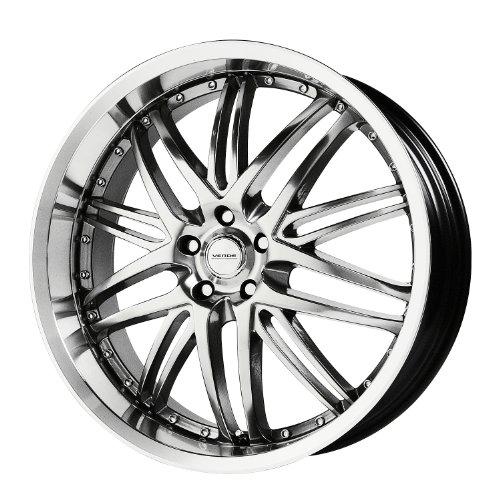 Verde Custom Wheels Kaos Hyper Silver Dark Wheel with Machined Finish (18x8