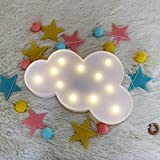 WHATOOK 3D Cloud Lamp Marquee Sign Night Light