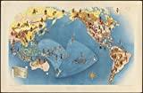 Historic Map | 1940 Peoples of the Pacific | Antique Vintage Reproduction