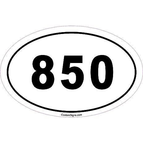 Amazoncom Area Code Bumper Sticker For Car Automotive - 850 area code