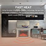 YODOLLA Electric Fireplace Insert,750-1500W Heater with Timer,Dimmer,Temperature & Remote Control