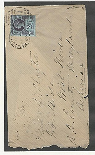 Great Britain, Postage Stamp, 114 Cover To Newton, Maryland 1894
