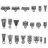 100Gram-About-90Pcs-Mix-Tibetan-Silver-Color-Connectors-Bails-Beads-for-Jewelry-Making-fit-European-Charm-Brac