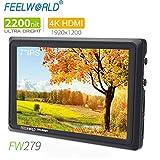 FEELWORLD FW279 7 Inch On Camera DSLR Field Monitor Full HD Focus Video Assist 1920x1200 IPS with 4K HDMI 3G SDI Input Output 2200nit High Brightness