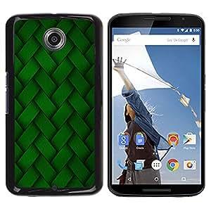 TopCaseStore / la caja del caucho duro de la cubierta de protección de la piel - Green Embroidery Pattern Wallpaper Random - Motorola NEXUS 6 / X / Moto X Pro