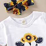 Newborn Baby Girl Clothes Sunflower Romper + Floral Short Pants with Headband 3Pcs Summer Outfit Set 0-18Months