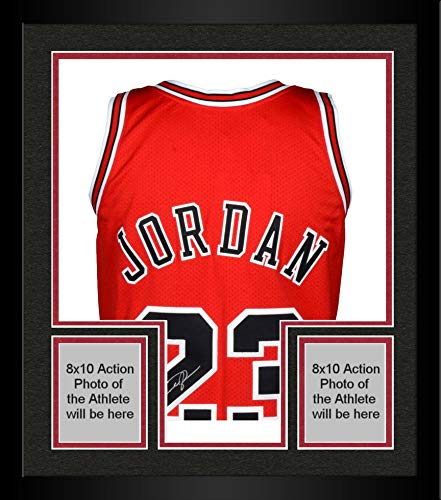 Framed Michael Jordan Chicago Bulls Autographed 1997-98 Mitchell & Ness Red Jersey - Upper Deck - Fanatics Authentic Certified