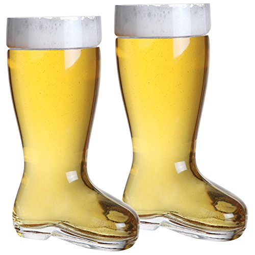 2 Liter Beer Boot Glass Set - Oktoberfest Beer Boots - Set of 2 - MyGift®