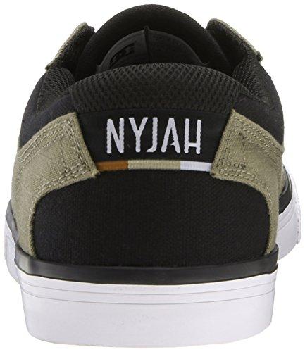DC Herren Nyjah Vulkanisierte TX Sneaker Olive / Schwarz