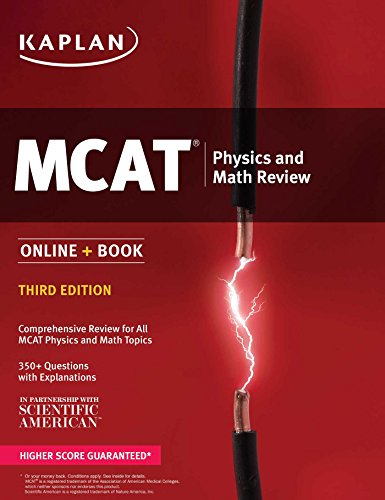MCAT Physics and Math Review: Online + Book (Kaplan Test Prep)