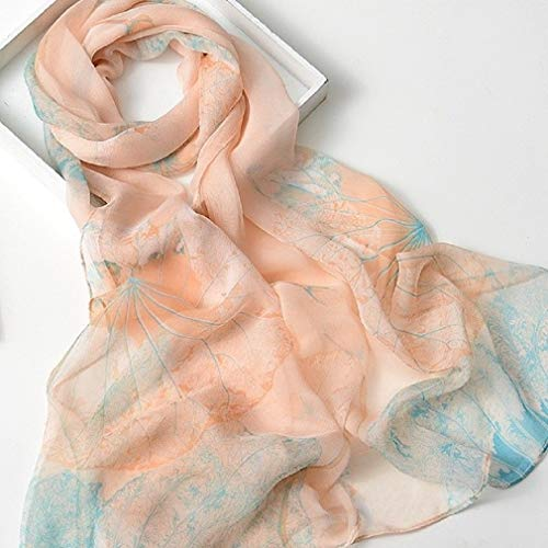 Beautiful, Elegant and Soft Floral Georgette Scarves/Scarfs/Shawls-Various Colors (Peach/Blue)