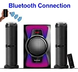 Boytone BT-424F, 2.1 Bluetooth Powerful Home Theater Speaker System, with FM Radio, SD USB ports, Digital Playback, 50 Watts, Disco Lights, Full Function Remote Control, for Smartphone, Tablet.