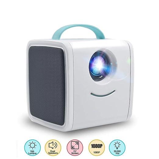 ZDZHU Los niños Proyector portátil Mini proyector de 700 ...