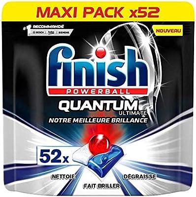 Finish Ultimate Quantum - Limpiador para lavavajillas (52 ...