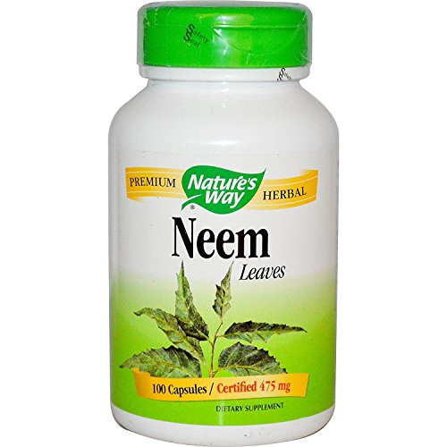 Natures Way Neem Leaf 100 Vegetable capsule, 100 ct