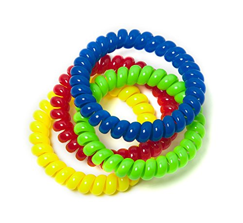 Chewable Jewelry Large Coil Bracelet - Fun Sensory Motor Aid - Speech And Communication Aid - Great For Autism And Sensory-Focused Kids 4 Pack 4 Colors by Chewzy Sensations
