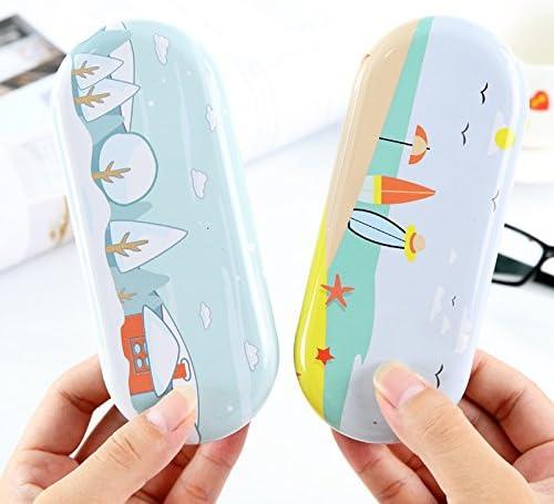 Dosige Brillenetui Hardcase Brillenbox Brillen Schutztasche Brillenetui Schockabsorbierend Tasche 15.5 6.5 3.3cm Granatapfel-Muster