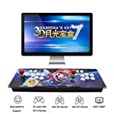 3D Pandora's Key 7 Retro Arcade Game Console - 2413 HD Games Pre-Loaded, Support 3D Games, Add More Games, 4 Players Online Game, 1920x1080P, 2 Player Game Controls