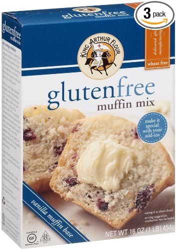 King Arthur Harina Muffin Mix, sin gluten, 16-Ounce (3 ...