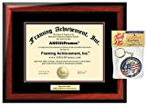 Engraved Diploma Frame Certificate Frames Personalized University Degree Graduation Gift Plaque Satin Matte Mahogany University College Framing Collegiate Document
