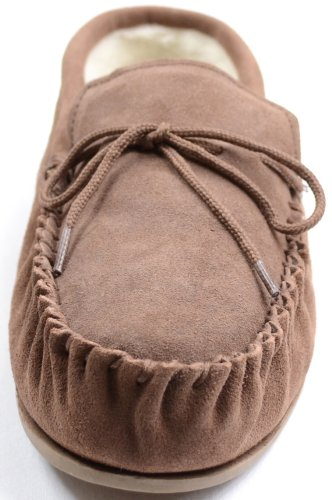 Dark Snugrugs Moccasin Womens with Brown Light Wool Brown Sole Slippers Lined Rubber 551wTZqx