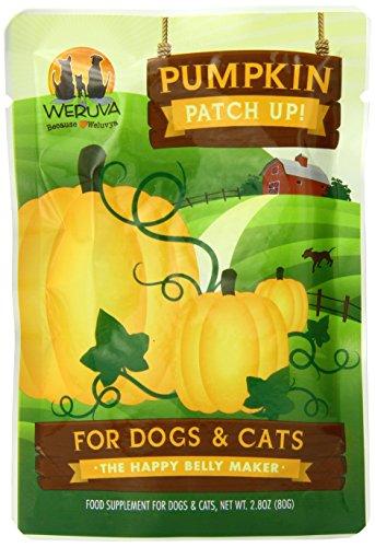 Weruva Pumpkin Patch Up!, Pumpkin Puree Pet Food Supplement for Dogs & Cats, 2.80oz Pouch (Pack of 12)