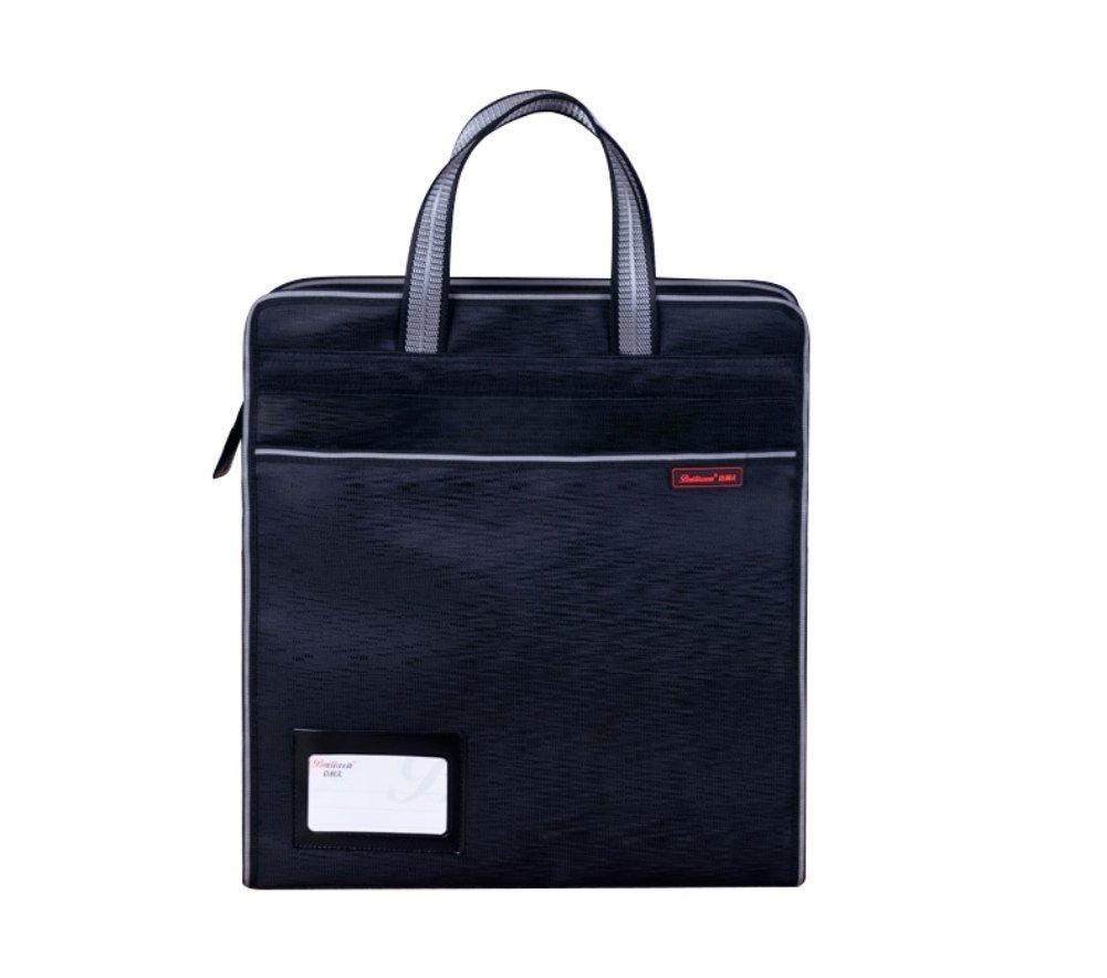 Portadocumenti ufficio verticale borsa portatile impermeabile borsetta a spalla messenger bag multifunzionale a portafoglio da viaggio Business conferenza riunione cartella organiser Tote Nero ITODA