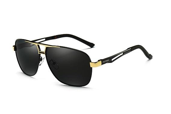 7206a03f7dbd30 AORON Polarisierte Herren Sonnenbrille Polarisierte Outdoor Sportbrille  100% UV400 Schutz Fahren Sonnenbrille (Gold)