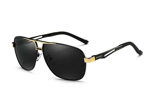 AORON - Gafas de sol - para hombre dorado dorado: Amazon.es ...