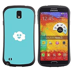 Paccase / Suave TPU GEL Caso Carcasa de Protección Funda para - Friendly Happy Cloud - Samsung Note 3 N9000 N9002 N9005