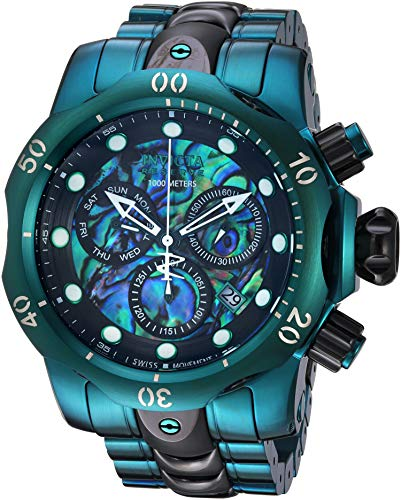 Invicta Men's 'Reserve' Quartz Stainless Steel Watch, Color:Green (Model: 25916)