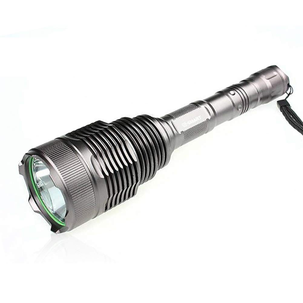 LAIABOR Taschenlampe Wasserdicht Taktische Superhelle Aluminiumlichtschale Blenden LED-Taschenlampe Superweitdistanzfernschuss 2  18650
