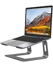 Desire2 Laptopstativ, bärbar datorhöjare kompatibel med Macbooks, Chromebooks och bärbara datorer, ergonomisk design, lindrar nack- och ögonbelastning, pistolgrå